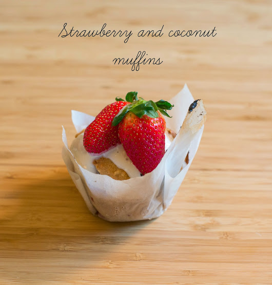 Coconut and strawberry muffins