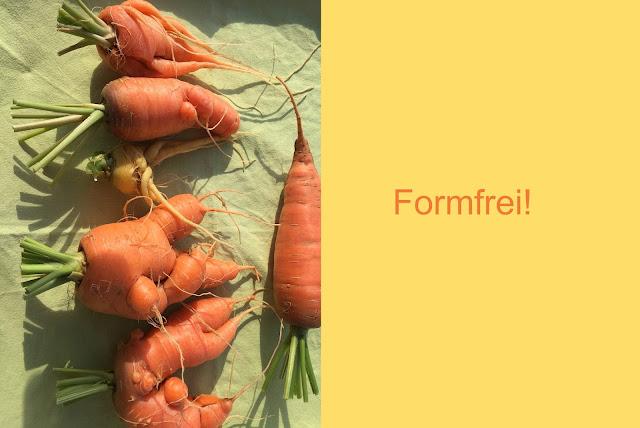 Karotten wachsen formfrei