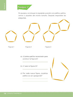 Apoyo Primaria Desafíos matemáticos 3ro Grado Bloque IV Lección 53 De cuánto en cuánto