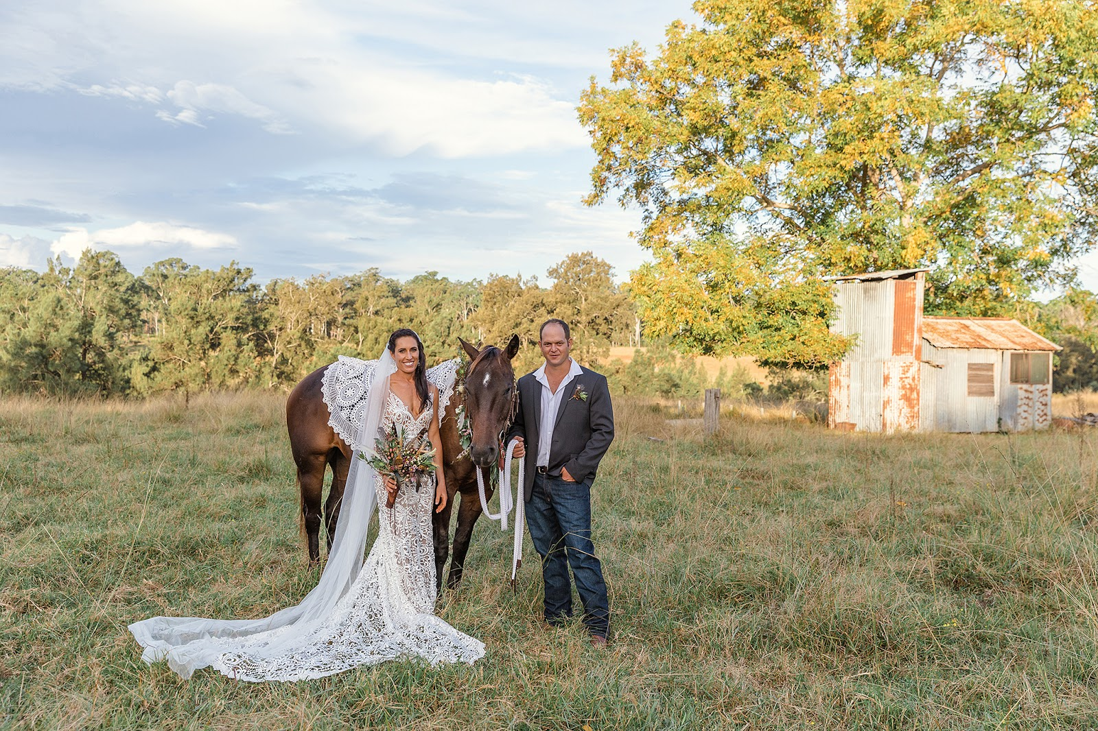 LOVE: CLANCY & LARRY | RUSTIC COUNTRY BOHO WEDDING NYMBOIDA RIVER