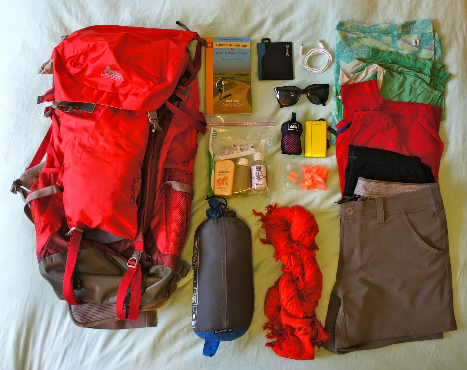 Camino Santiago Packing List A Mountain Top High Camino De Santiago This Girl S Packing List