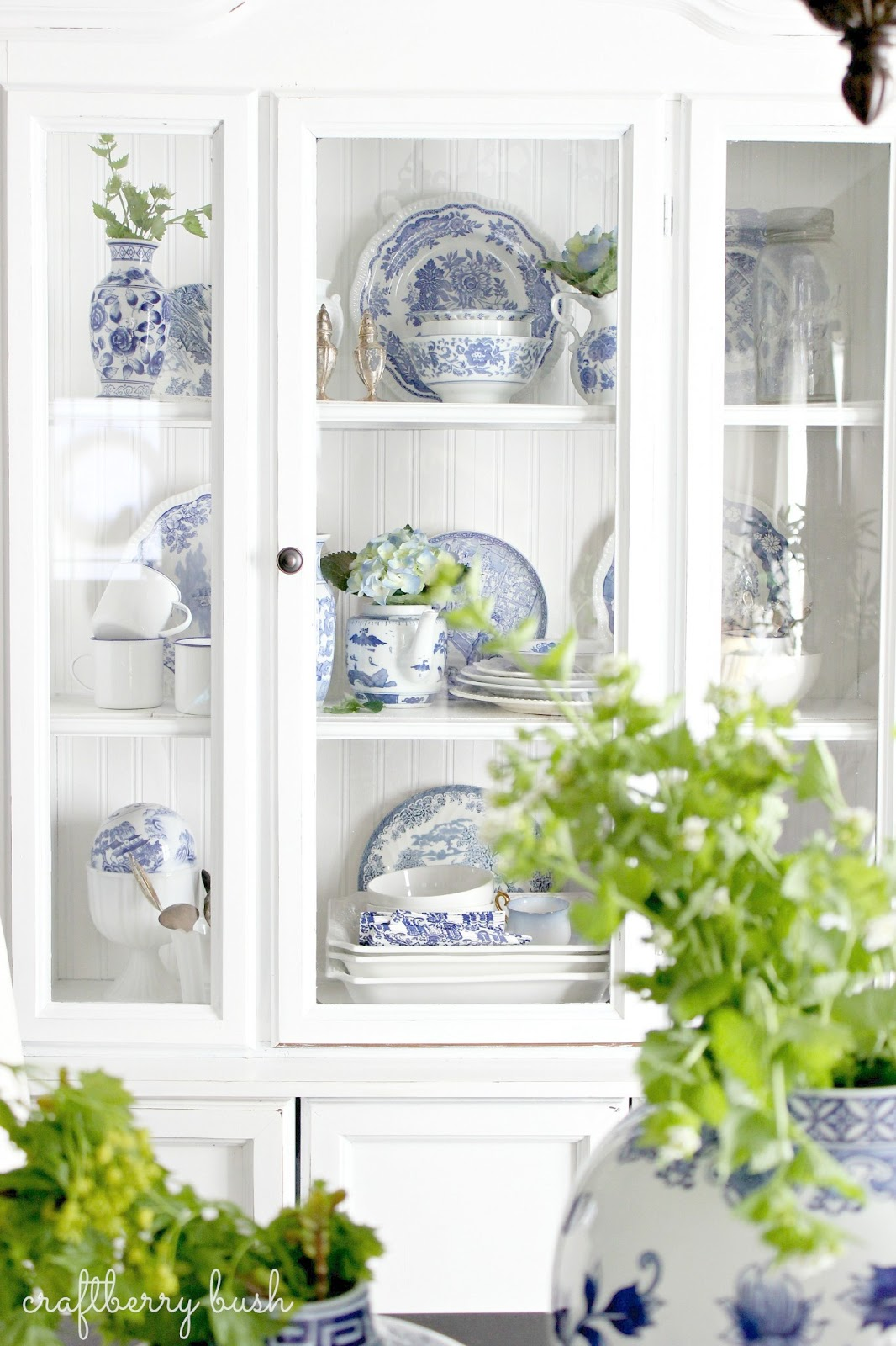 Blue And White Porcelain In The Hutch