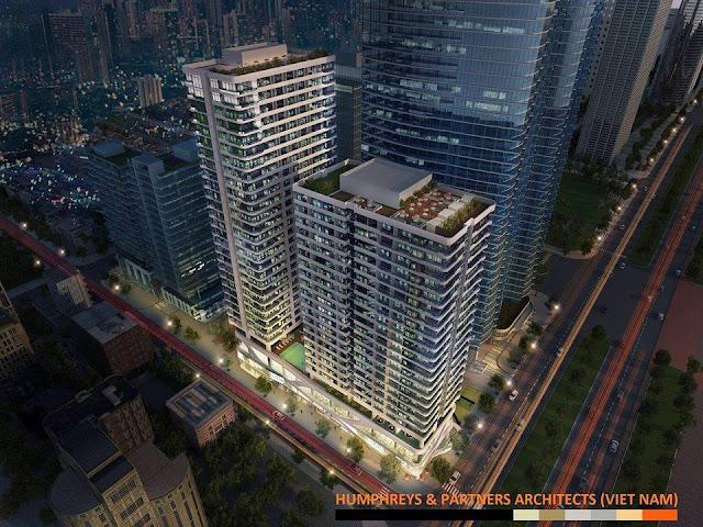Vị trí căn hộ Đà Nẵng Times Square nhìn từ trên cao giao Võ Nguyên Giáp và Phạm Văn Đồng