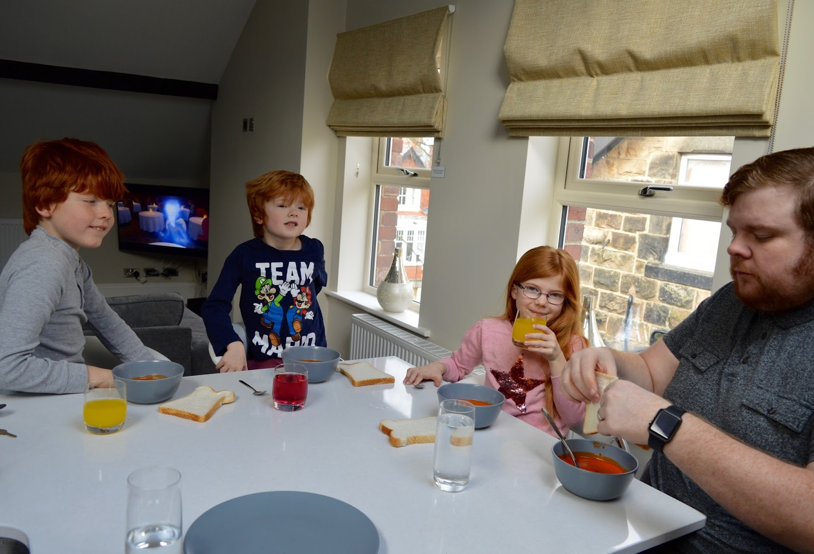 48 Hours in Harrogate with Kids | Harrogate Serviced Apartments Review - st Georges five breakfast bar tomato soup