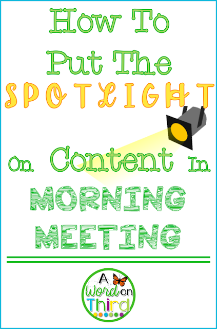 How To Put The Spotlight On Content In Morning Meeting by A Word On Third