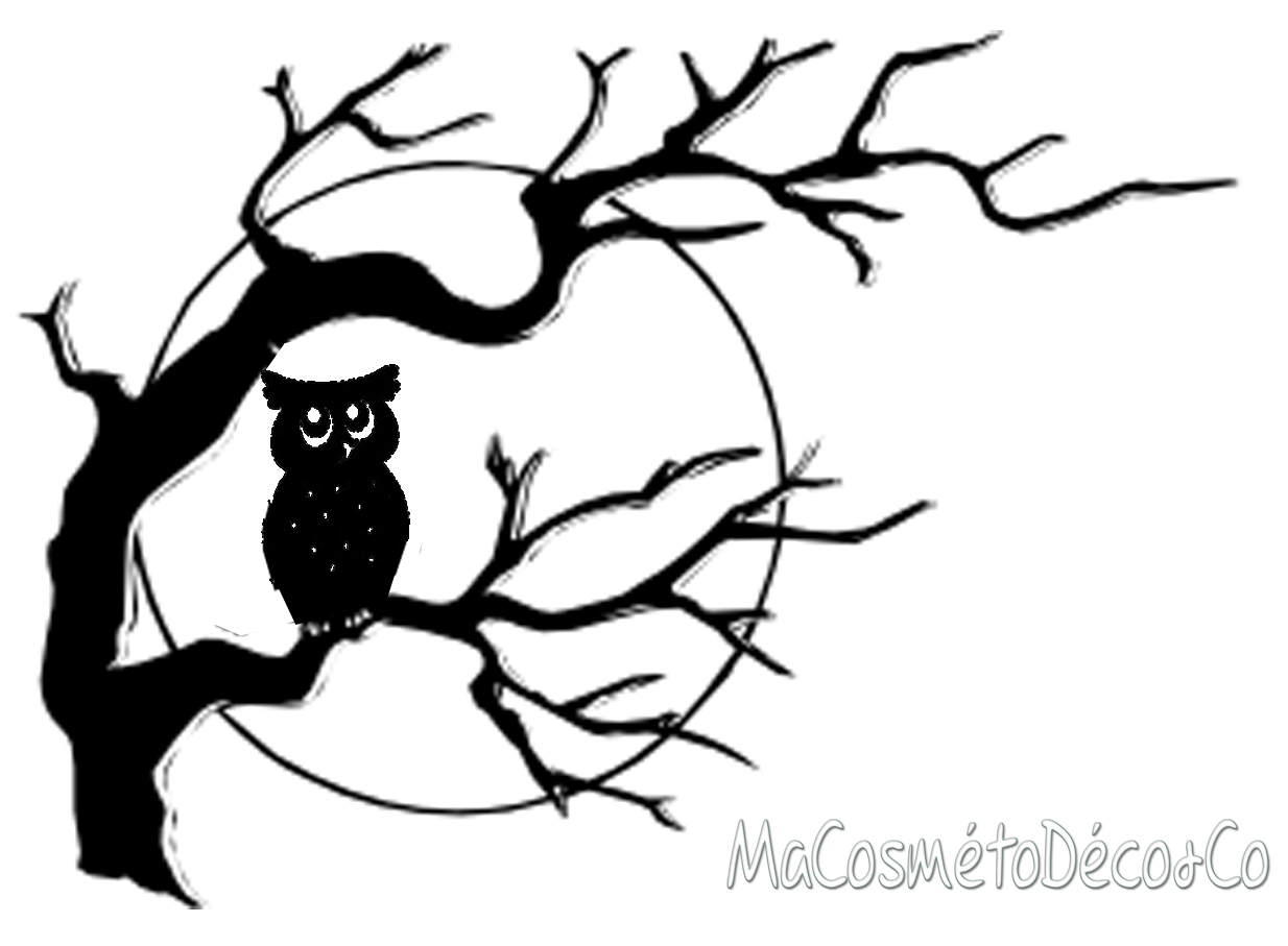 the black owl nouveau chouette d cor pour halloween. Black Bedroom Furniture Sets. Home Design Ideas