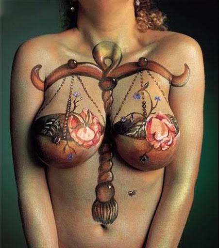 O equilíbrio encontrado em partes do corpo