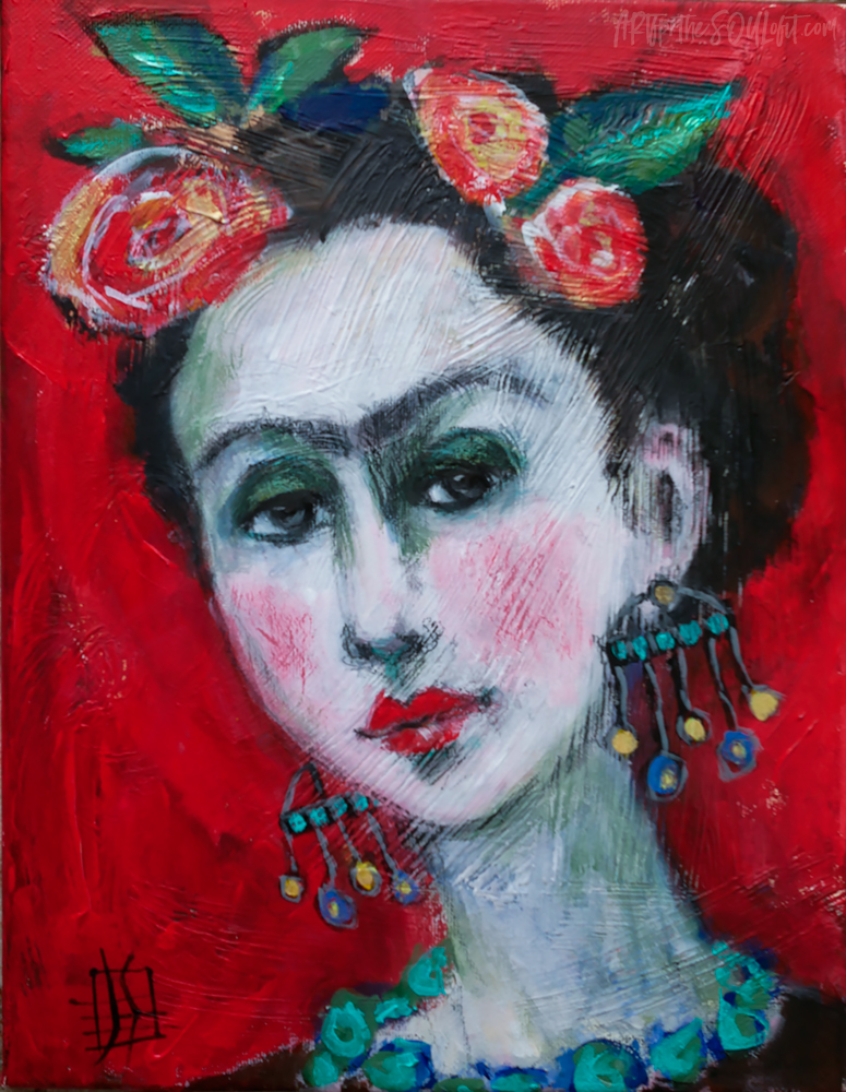 My Frida - original painting of Frida Kahlo by Joanie Springer