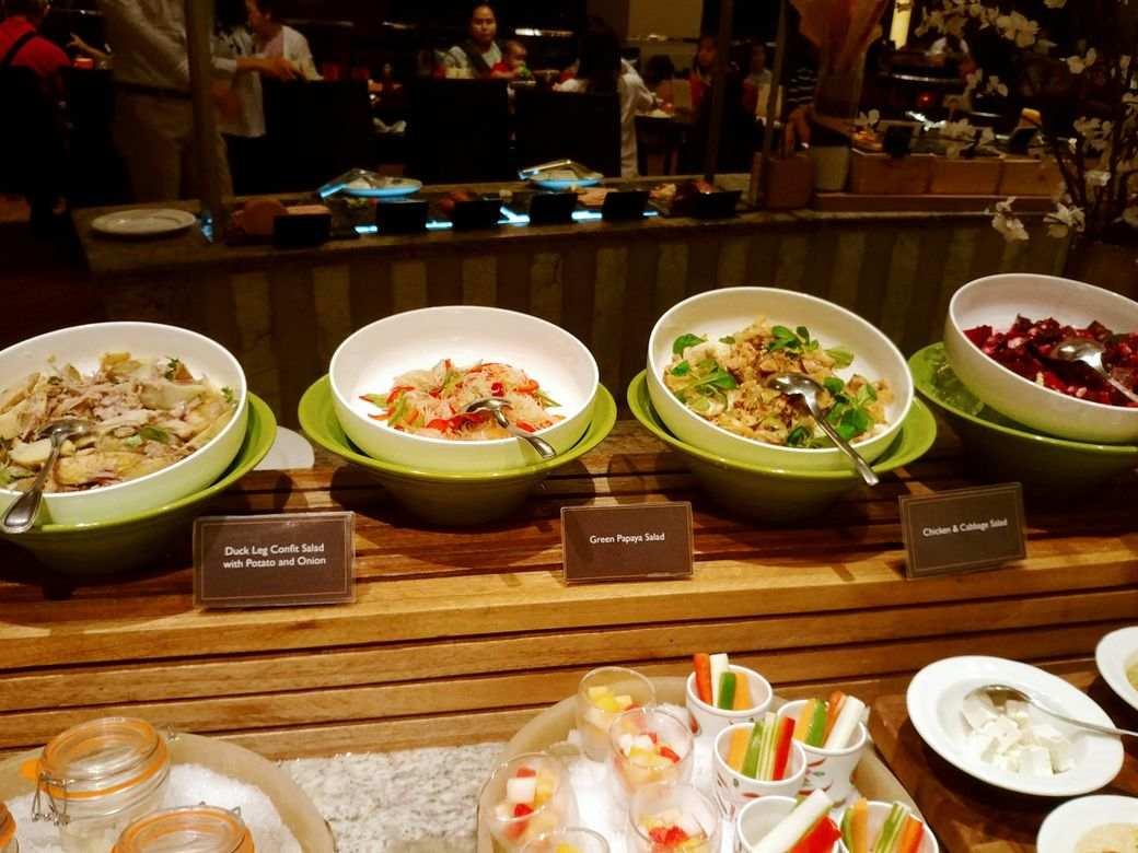 Salad station at Circles Event Cafe