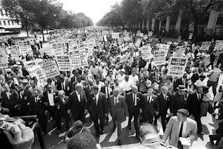 Cabecera de la manifestación de la Marcha sobre Washington por el Trabajo y la Libertad.