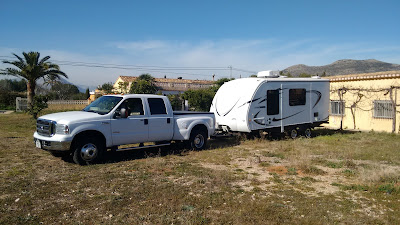 Travel trailer delivered in Spain