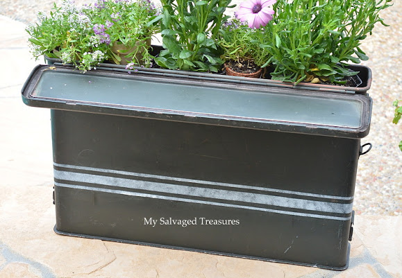 custom stenciled ammunition case garden planter