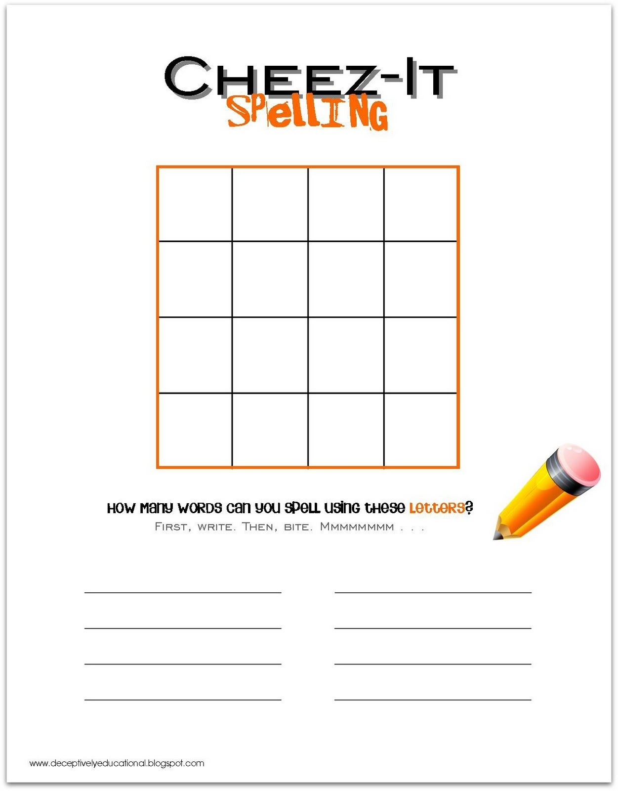 Homework Worksheet Template