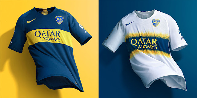 on sale 50cb1 eaf3b Boca Juniors 2018/19 Kit - Dream League Soccer Kits - Kuchalana