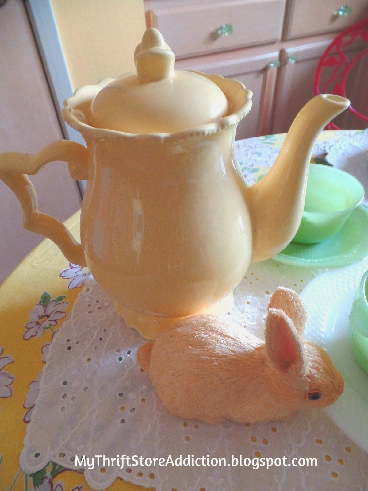Yellow tea pot