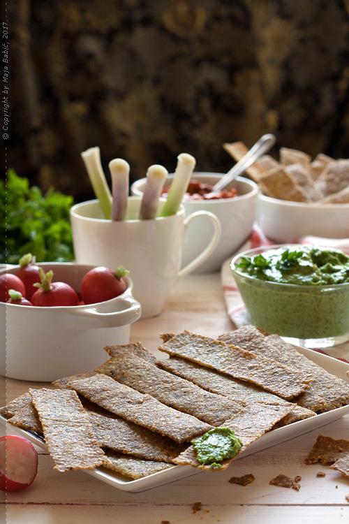 Krekeri od prosa a la tortilja čips