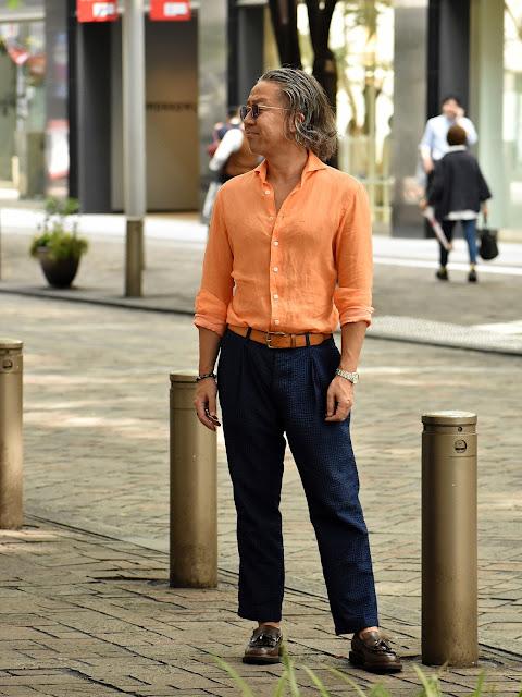 40代メンズの長袖シャツスタイル