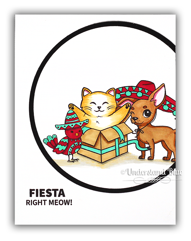 Fiesta Right Meow Card by Understand Blue
