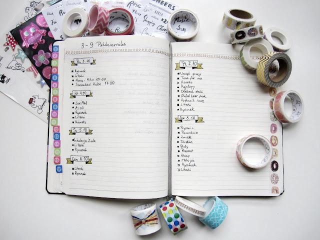 bullet journal po polsku | Bullet journal jak zacząć | washi tape | taśmy dekoracyjne