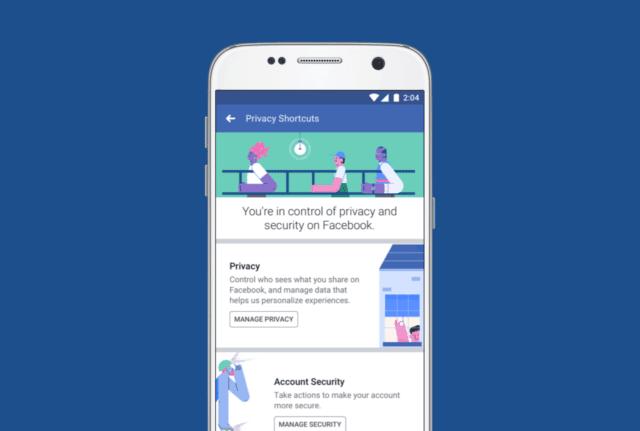 "Facebook التغيير الكبير: Merges 20 Privacy Screens في 1 ""Privacy Shortcuts"""