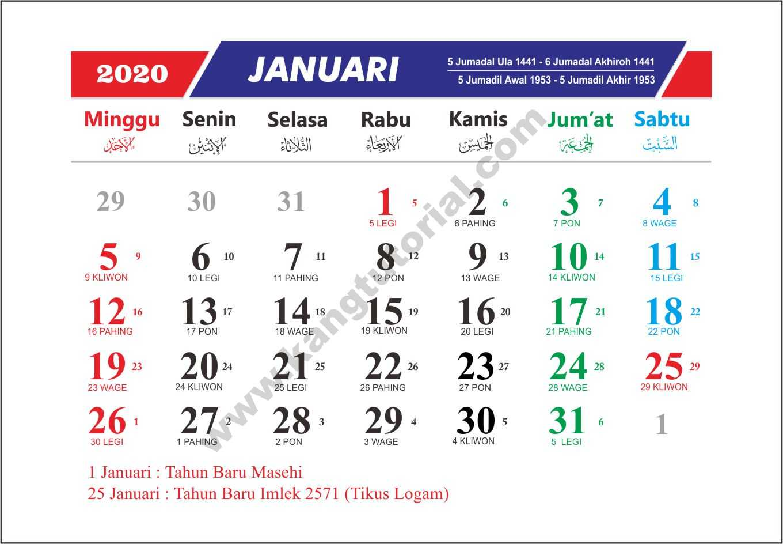 Download Kalender 2020 Gratis Format Cdr Dan Pdf Lengkap