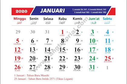 Download Kalender 2020 Gratis Format CDR