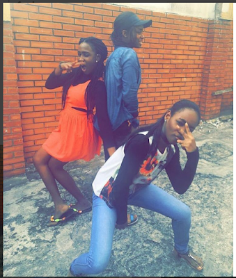 Iyabo Ojo & Mercy Aigbe's Daughters, Priscilla & Michelle Strike Strange Poses... Check It out