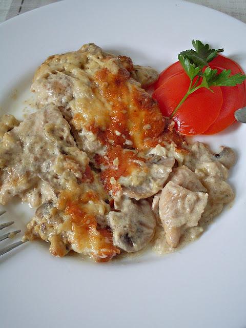 Zapečena piletina sa pečurkama i sirom