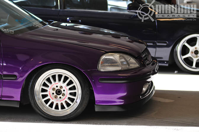 When Someone Takes A Look At Joe Tran S Car They Will Notice Bright Purple Paint Job From Mile Away His Is 1996 Honda Civic
