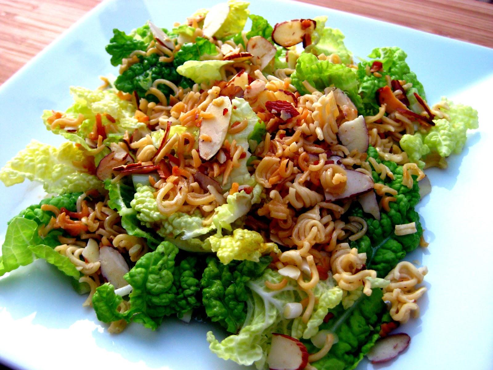 Asian napa cabbage salad
