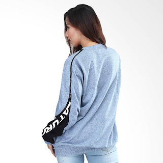 Kuzatura KSD 347 Jacket Hoodies Sweater Kasual Wanita - Blue