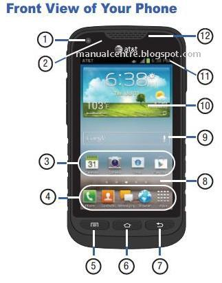 Samsung Galaxy Rugby Pro Front