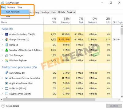 mengatasi taskbar ikon windows tidak bisa diklik