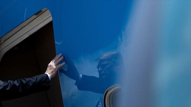 Trump desata críticas con vídeo político en avión presidencial