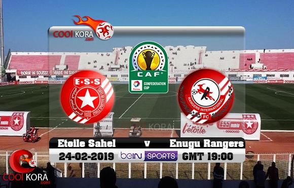 مشاهدة مباراة النجم الساحلي و إينوجو رينجرز اليوم 24-2-2019 كأس الكونفيدرالية الأفريقية