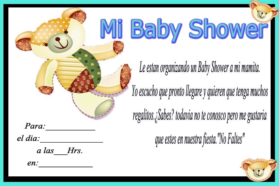 Tarjetas De Cumpleaños Para Imprimir Invitación Baby Shower