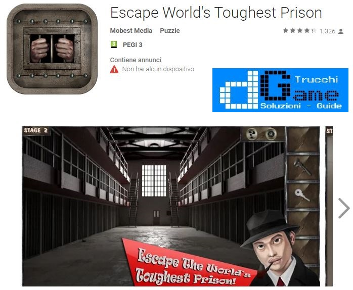 Soluzioni Escape World's Toughest Prison livello 1 2 3 4 5 6 7 8 9 10 | Trucchi e Walkthrough level