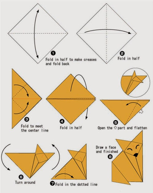 Origami Shark – Easy Origami for Kids | 629x500