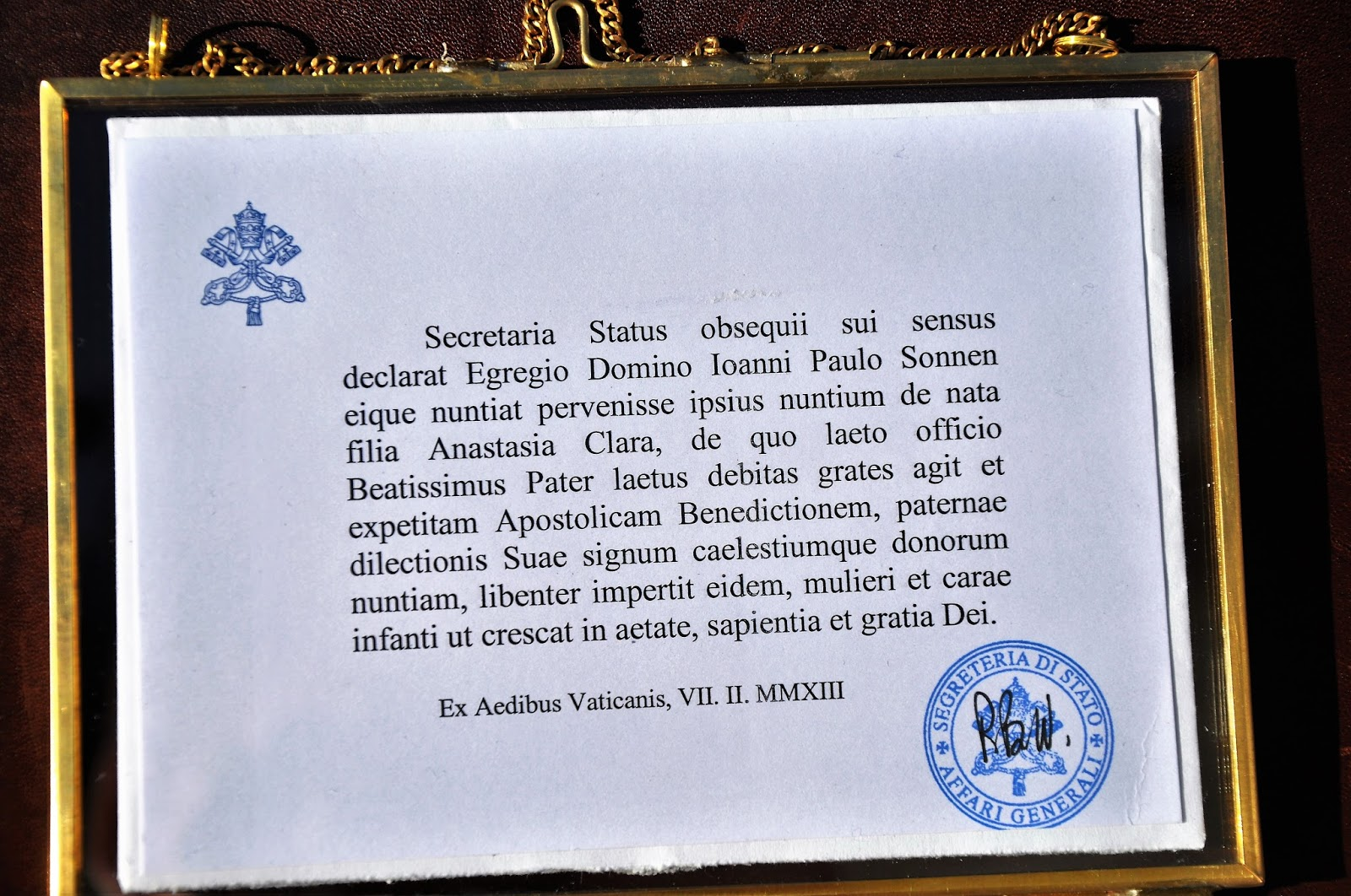 Understand god bless in latin consider