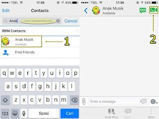 Cara Video Call Di BBM (BlackBerry Messenger) Terbaru