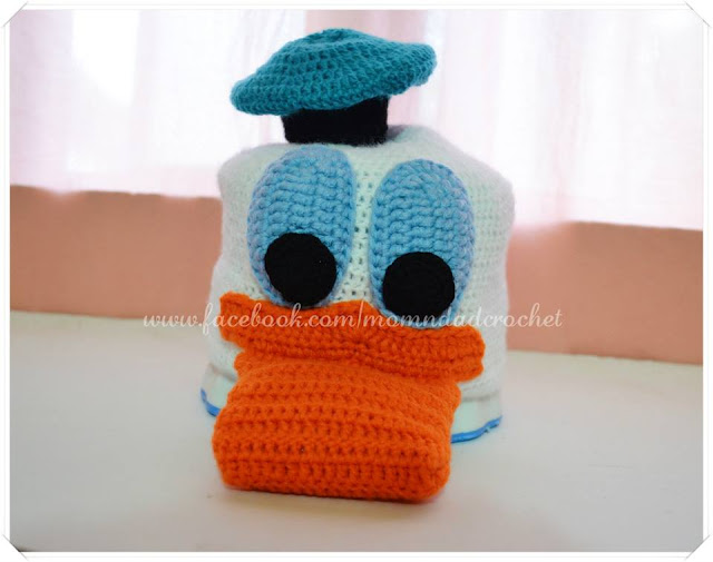character hats, crochet hat, Donald Duck hat,