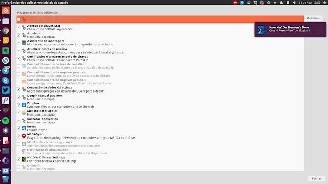 Inicialização Ubuntu