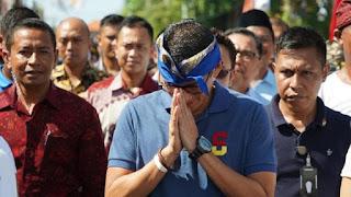 Sandiaga Ditolak Warga Tabanan Bali, Ini Alasannya