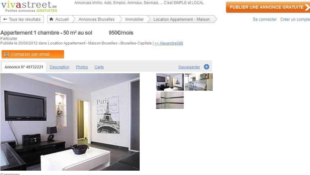 alexandre088 appartement 1 chambre 50 m au sol 950 mois. Black Bedroom Furniture Sets. Home Design Ideas