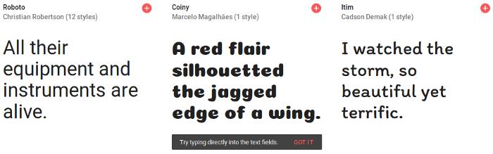 usar o google fonts para desenvolvimento de web sites