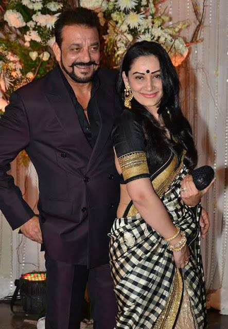 sanjay dutt with manyata in bipasha basu marriage function