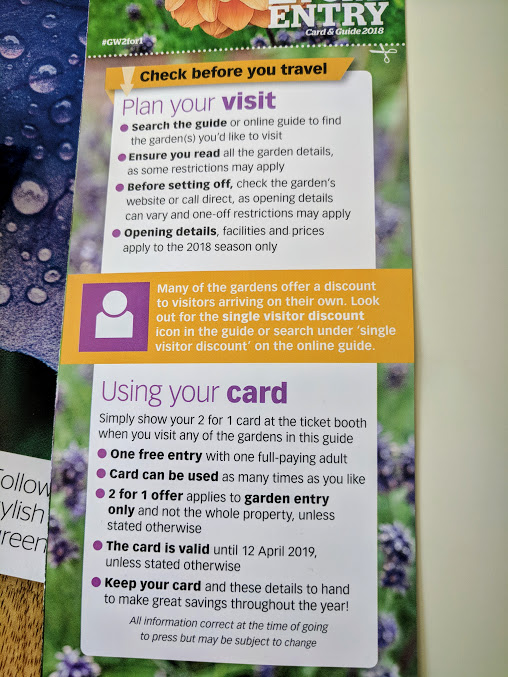 Access 2 for 1 Entry to 400+ UK Gardens (including Alnwick Garden) with this months' Gardeners' World Magazine