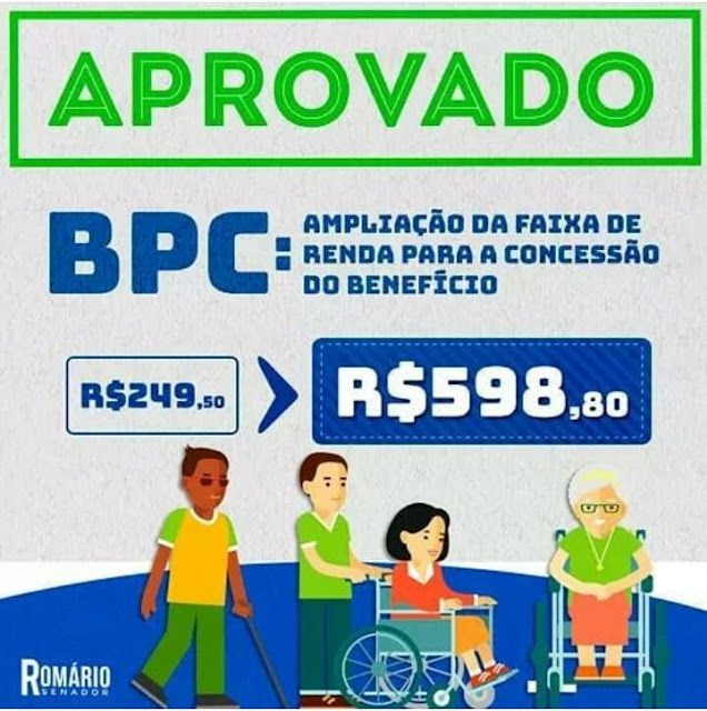 Aprovado!!!  BPC/LOAS de R$249,50 para R$598,80 Confira!