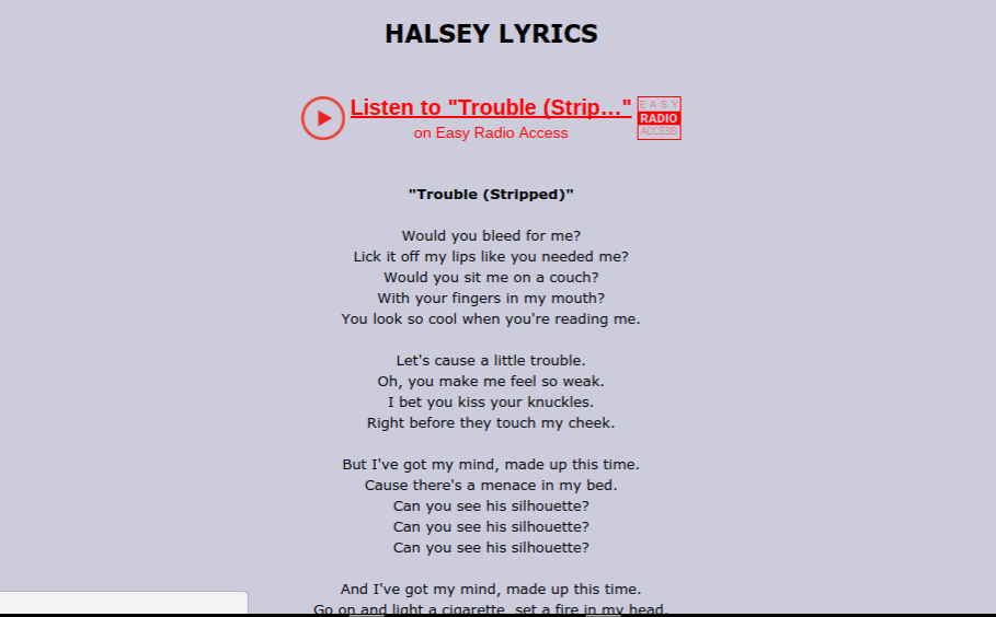 the xylobone: Halsey stole lyrics??