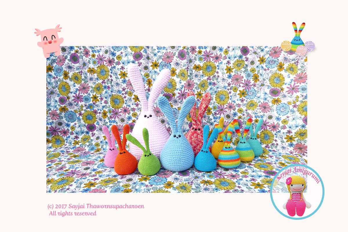 Patron gratuit – Lapin Modèle au Crochet pour Amigurumi - Little ... | 800x1200